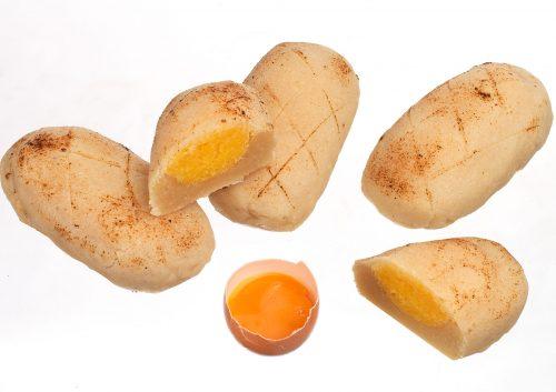 Pan de Cádiz relleno de yema